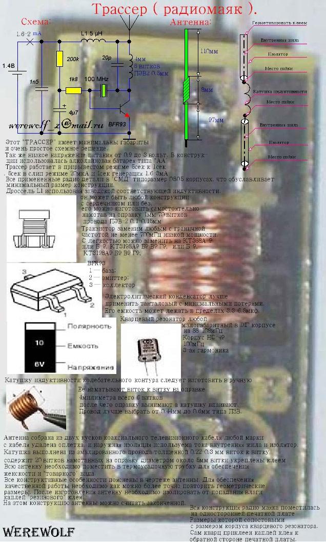 Поисковый радиомаяк своими руками 95