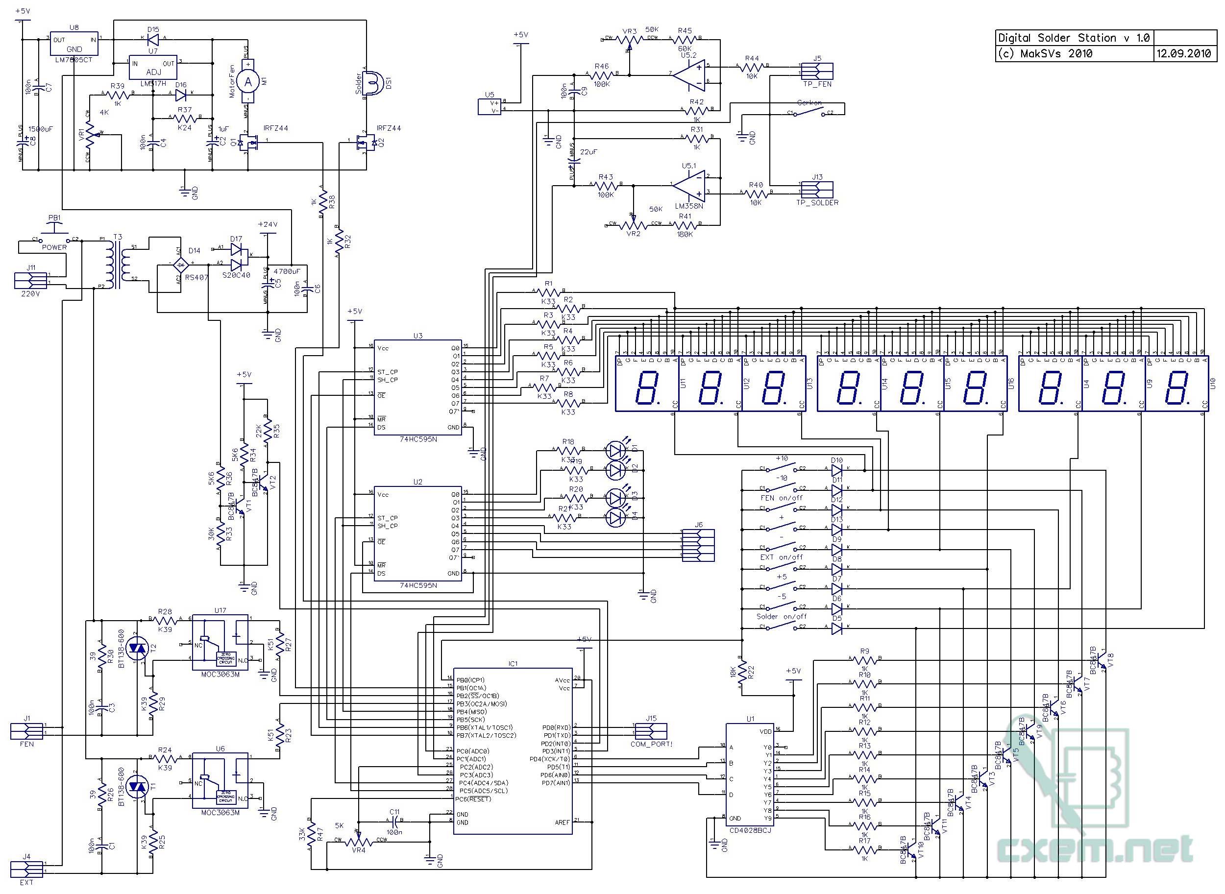 Схема индукционная паяльная станция своими руками